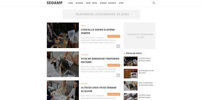 seoamp шаблон для blogger