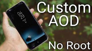 Custom AOD Overlay, Cara Menambahkan Gambar dan wallpaper Pada Always on Display Samsung