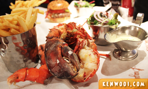 burger and lobster lobster