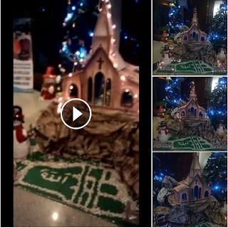 Beredar Foto dan Video tulisan ALLAH di bingkai telapak kaki di bawah simbol Salib - Commando