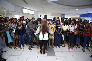 Laura Ikeji Gave Out Free Books At The MaryLand Mall