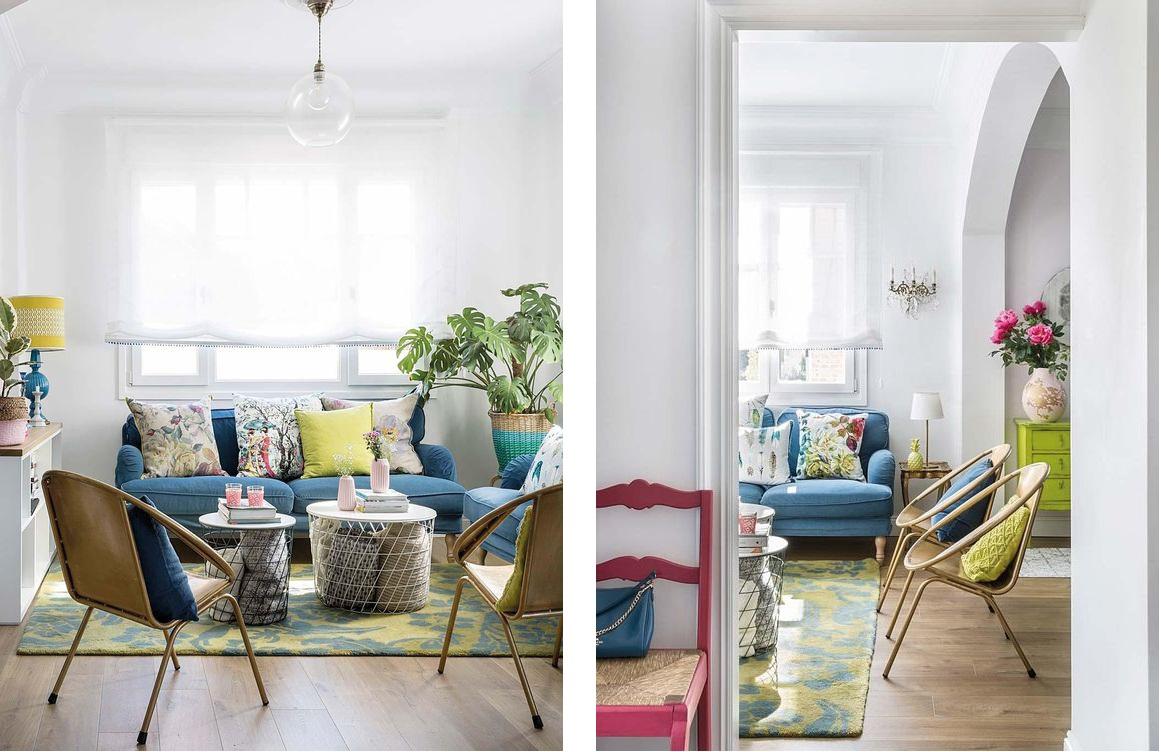 casa de los sueños balamoda decoración sofá azul