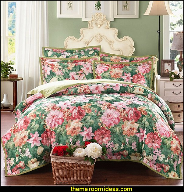 Floral Print Bedding floral bedding - flowers pillows - floral duvet covers - Floral Bedding Sets - flower theme bedding - Floral Print Bedding