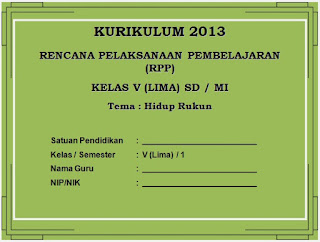 RPP Kurikulum 2013 SD Kelas 5 Semester 1