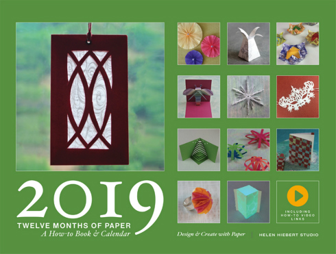 Front cover of the 2019 Twelve Months of Paper Calendar