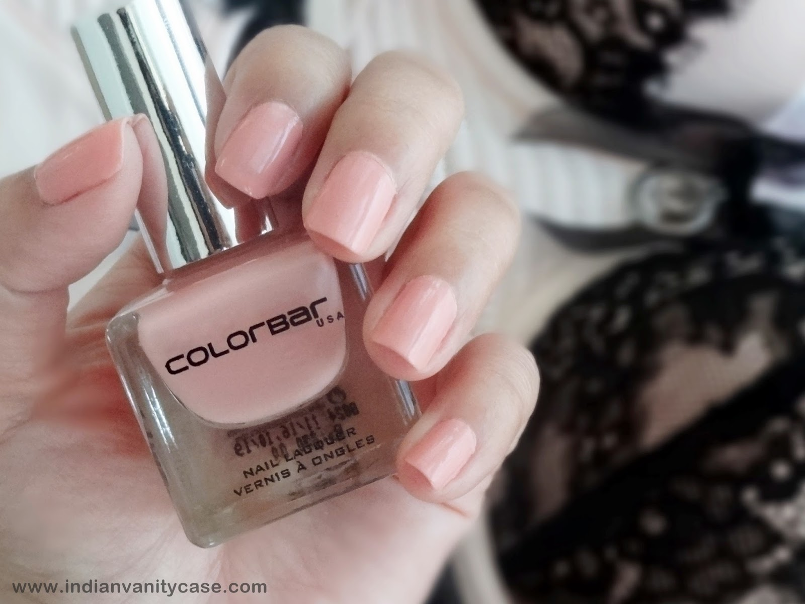 Indian Vanity Case: Colorbar Pink Crepe Luxe Nail Lacquer ~ NOTW