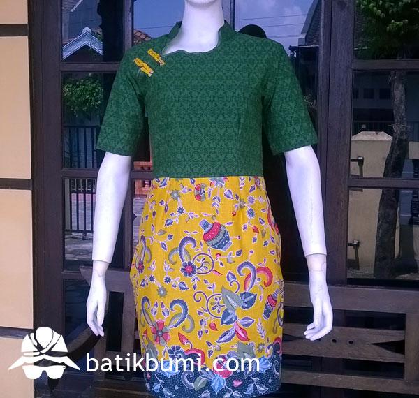 Dress Batik Cheongsam mix Emboss
