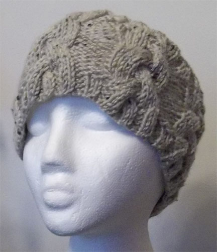 Knitted cable head band ear warmer hand knitting pattern dt1010fo
