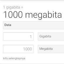1 GB Berapa MB/KB Dalam Hitungan Kuota Data Internet