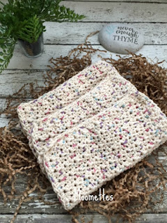 Handmade Beige Cotton Dish Cloths