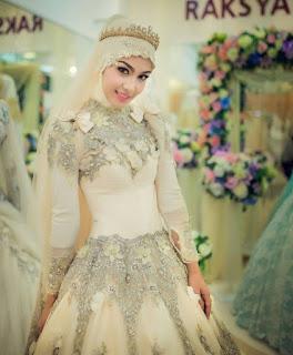 Gaun Pengantin Muslimah Kebaya Hijab