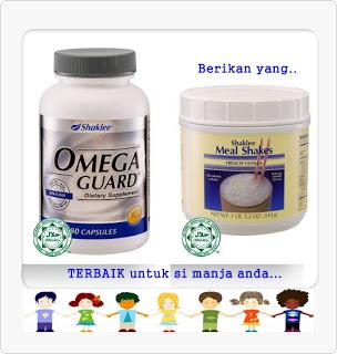 Supplement Untuk Kanak-Kanak | Omega Guard + Meal Shakes