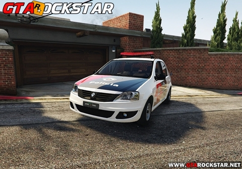 Renault Logan PMSP para GTA V