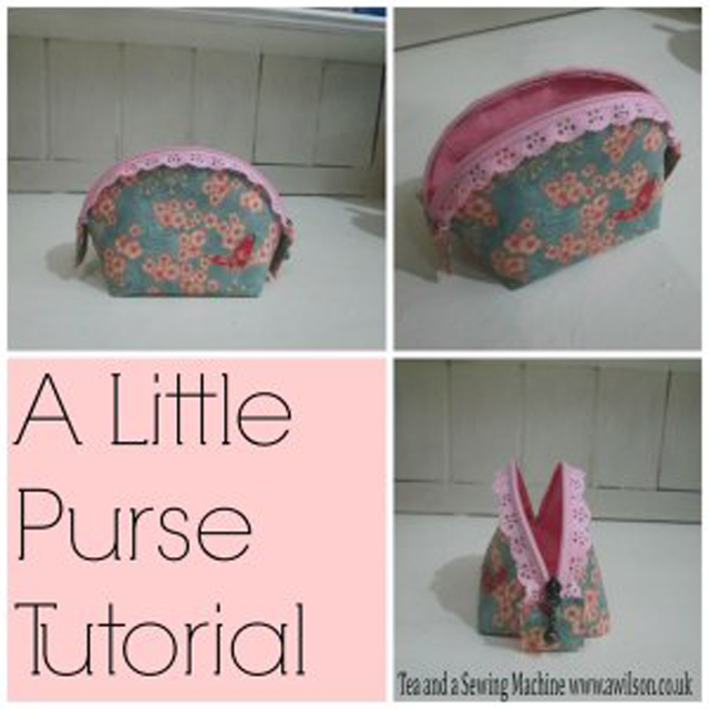 Little Purse with a lace zipper - perfect for a Christmas stocking