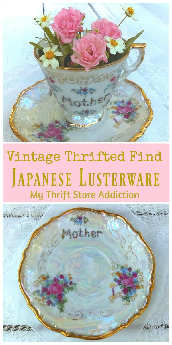 Japanese lusterware teacup