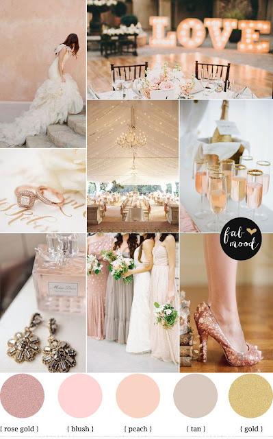 combinación tonos pasteles para bodas de invierno