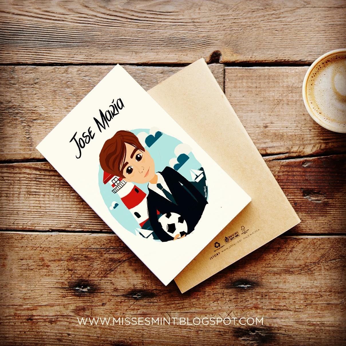 ilustraciones personalizadas recordatorios primera comunión miss mint