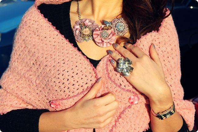 how to wear flower jewelry ideas