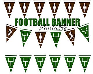 Football Banner free printable