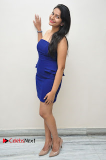 Actress Swetha Verma Pictures in Blue Dress at Wish You Happy Break Up Movie Premier Show  0055