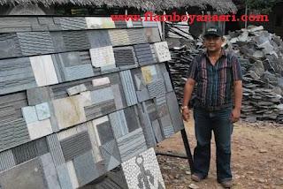 Jasa Taman Surabaya Pola pemasangan batu alam