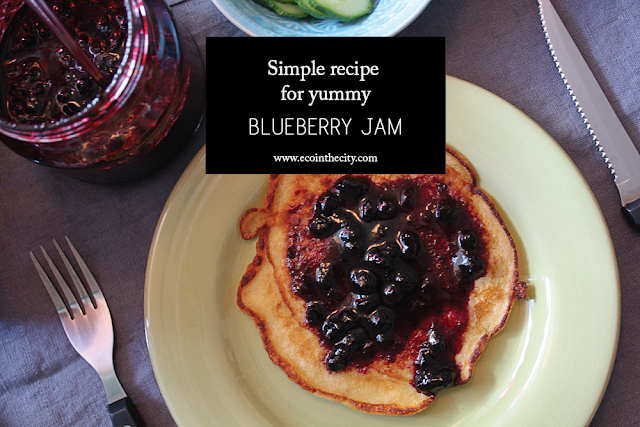 Simple recipe for yummy blueberry jam