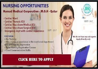 Staff Nurse Vacancies in HMC, Qatar