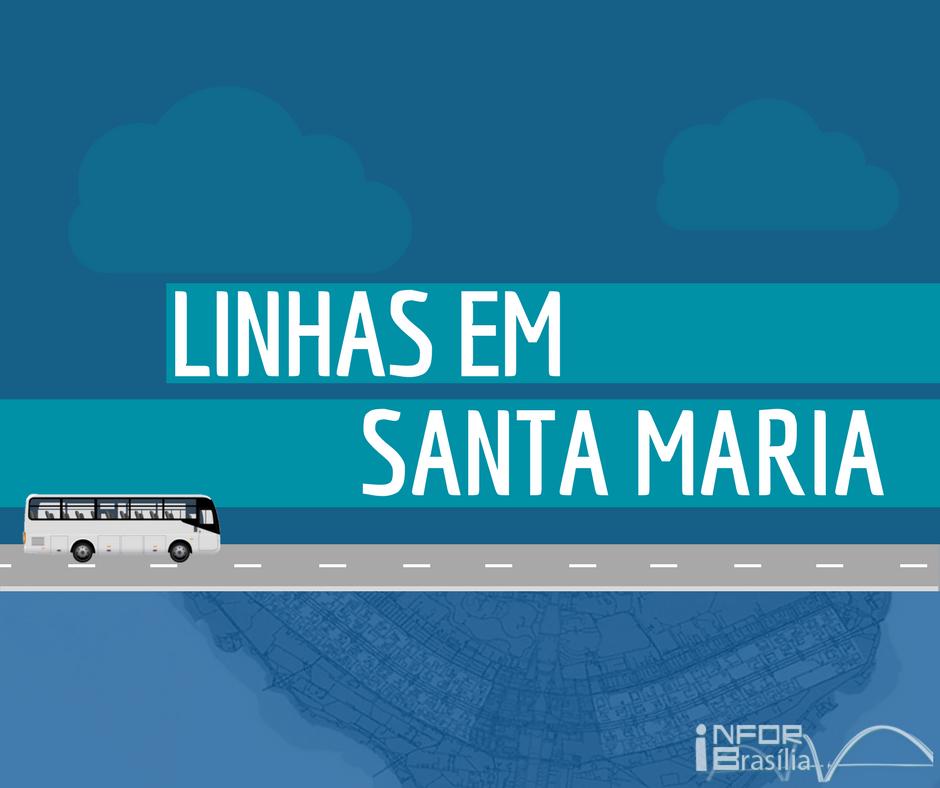 HORÁRIO DE ÔNIBUS DAS LINHAS DE SANTA MARIA