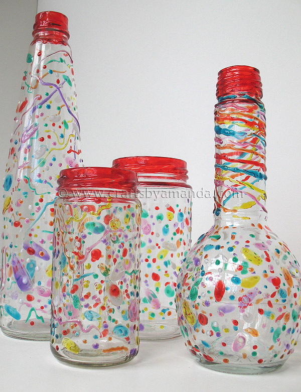 How to recycle make your own confetti party ware for Crafts to make with glass jars