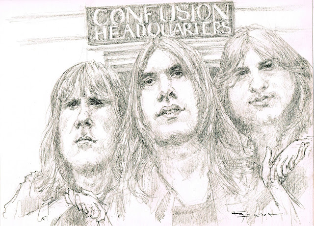 Emerson Lake Palmer caricature Fede Bengoa Rock elp