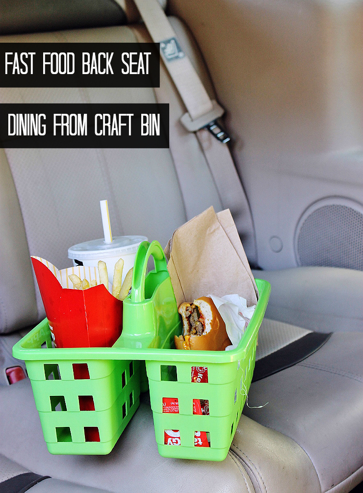 Car Hack: Fast Food Organization #RoadTripOil #AD