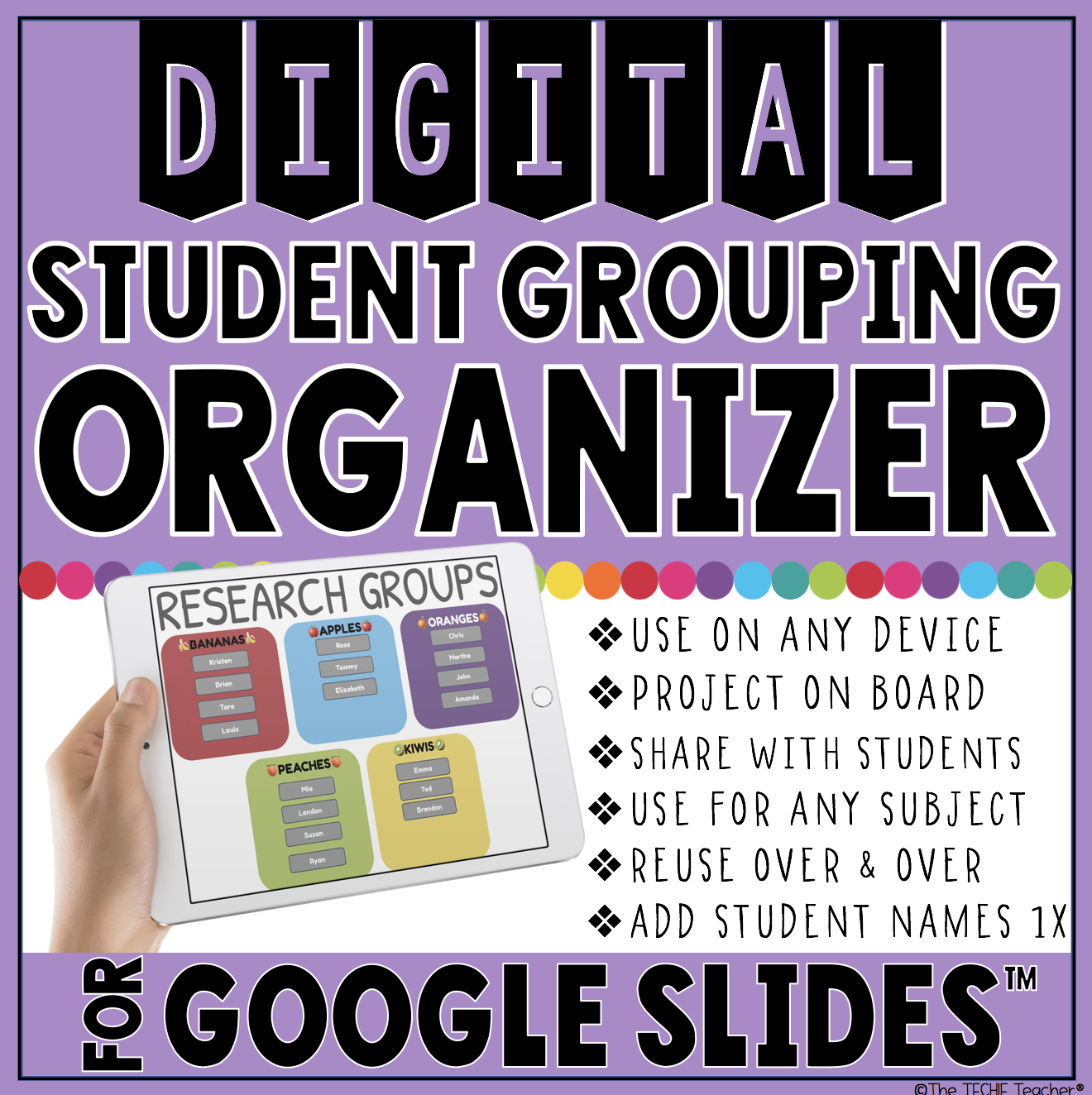 Use this Google Slides™ template to arrange students into cooperative learning groups or partners. 6 different templates are included! It will be stored in your Google Drive and can be updated on any device!