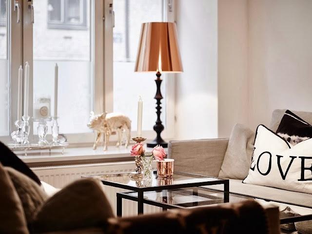 Chic no grau máximo: apartamento decorado em tons neutros. Blog Achados de Decoração