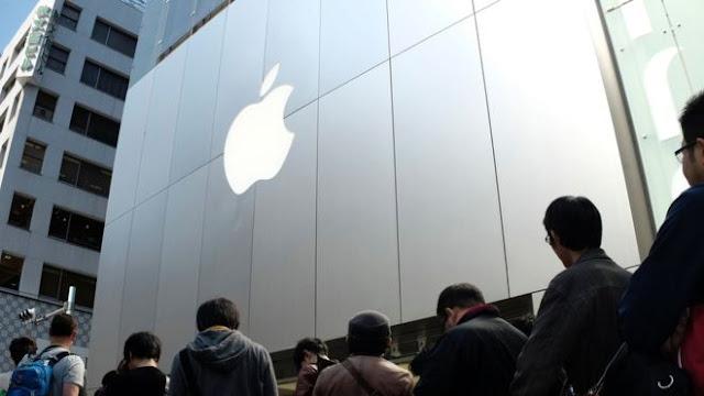 Apple iPhone sales fall, but beat estimates