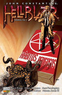 Capa da HQ Hellblazer Infernal Vol. 1: Hábitos Perigosos