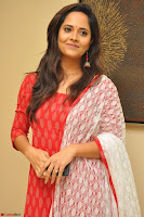 Anasuya Bharadwaj in Red at Kalamandir Foundation 7th anniversary Celebrations ~  Actress Galleries 034.JPG