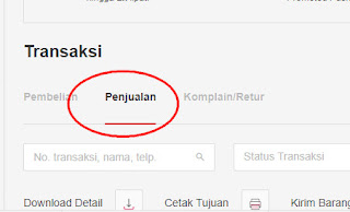 Cara mencetak invoice Bukalapak