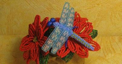 Схема цветов мозаичным плетением фото 49