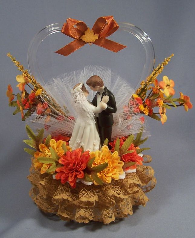 fall wedding cake toppers autumn cake toppers autumn crafts picture 4022