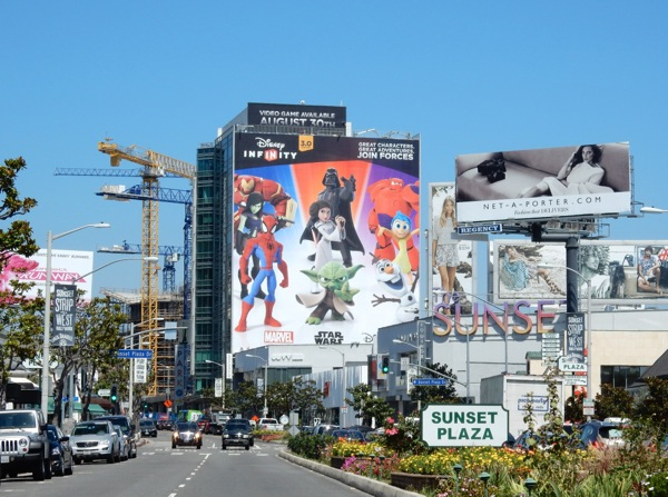Giant Disney Infinity 3 billboard Sunset Strip