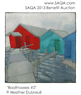 Boathouses #2 by Heather Dubreuil