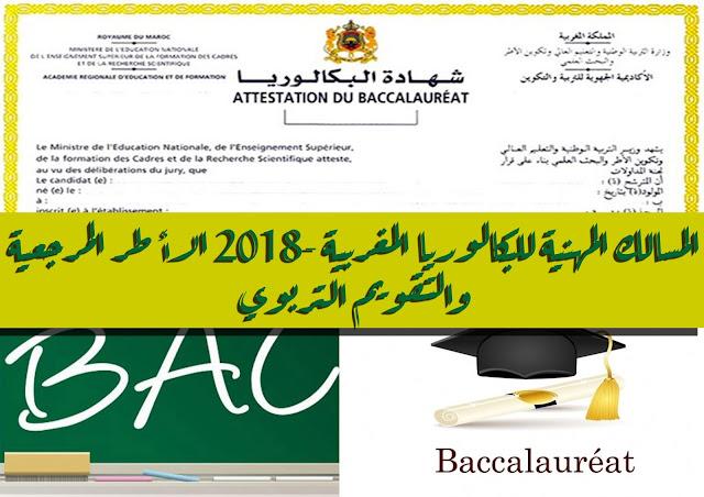 المسالك المهنية للبكالوريا المغربية 2018- الأطر المرجعية والتقويم التربوي