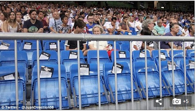 Spaninish giants Real Madrid record lowest home crowd...See reasons