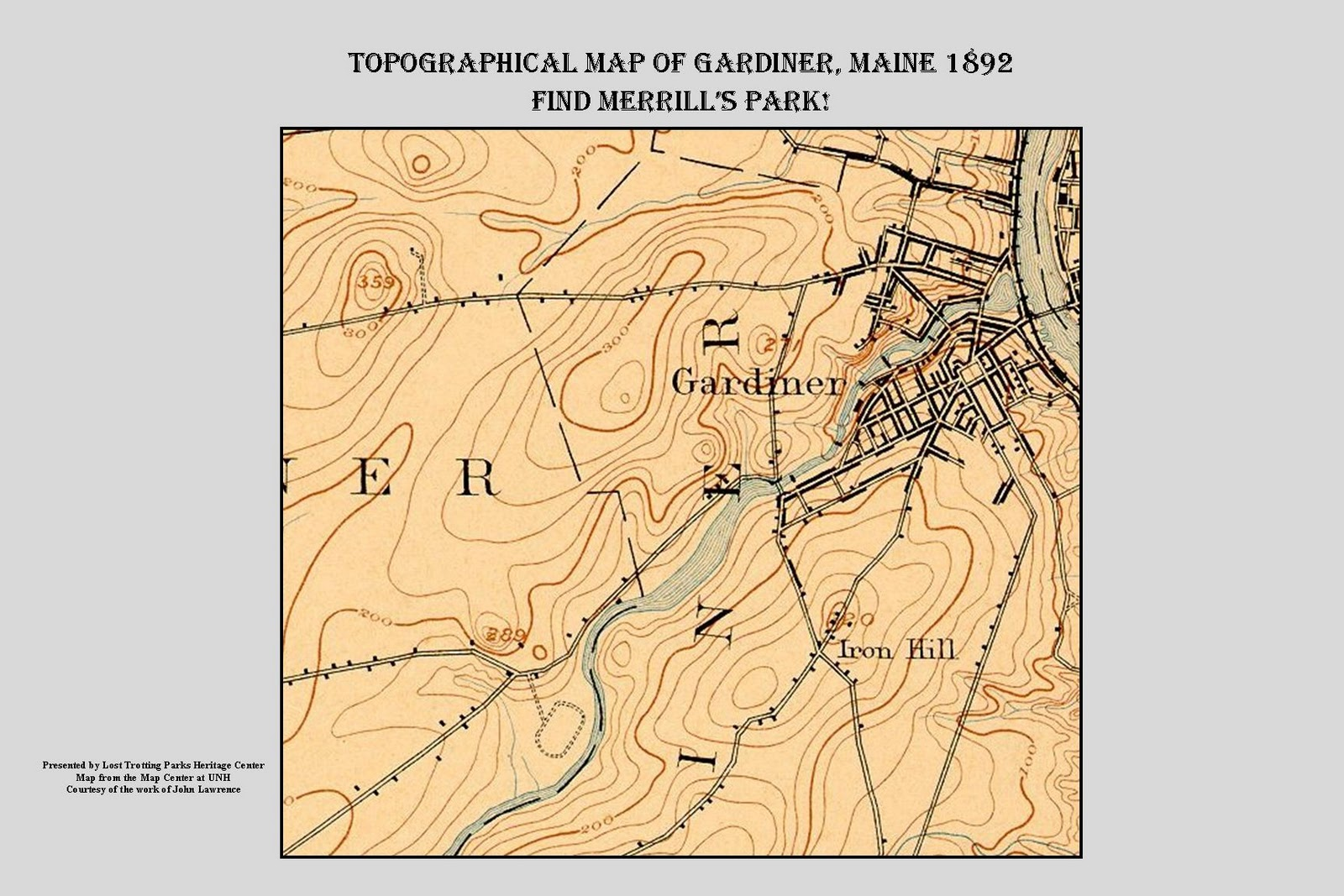 Topo Map Of Maine.The Lost Trotting Parks Heritage Center Storyboard Archives 1892