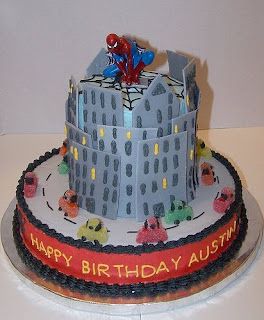 Spiderman Birthday Cake Topper