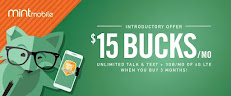 $15 Per month unlimited data