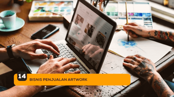 14. Bisnis Penjualan Artwork