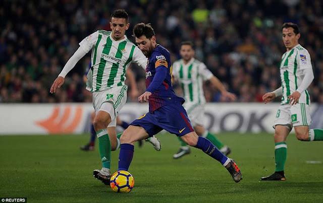 Video Betis - Barcelona: Show diễn siêu sao, 5 bàn chói lọi