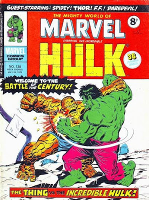 Mighty World of Marvel #138, Hulk vs Thing