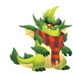 Appearance of Grinchy Dragon when teenager